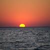 The sinking sun...