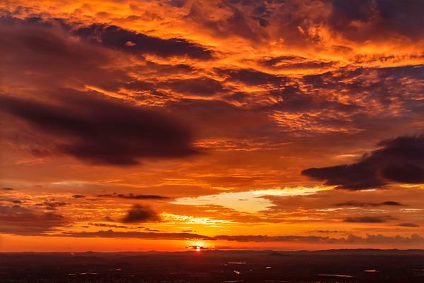 Mt Archer Rockhampton Sunset