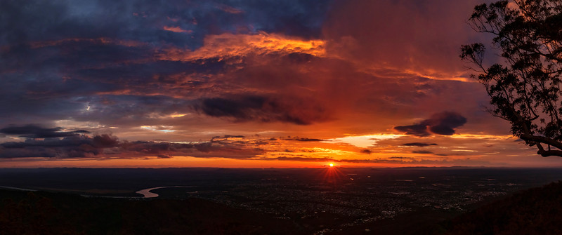 Mt Archer Rockhampton Sunset