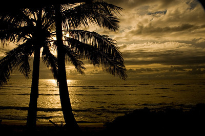 Sunset, May 22, 2009  North Shore, Oahu, Hawaii