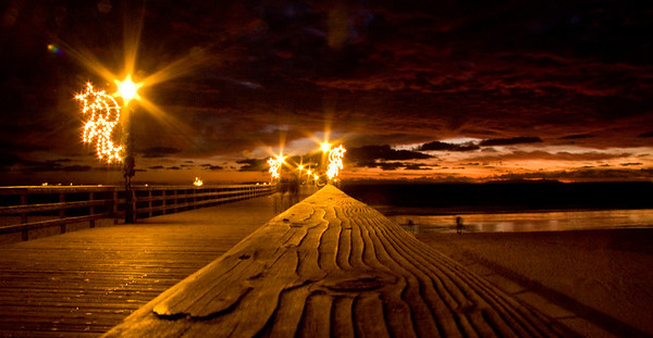 Seal Beach Pier at Christmas 2008