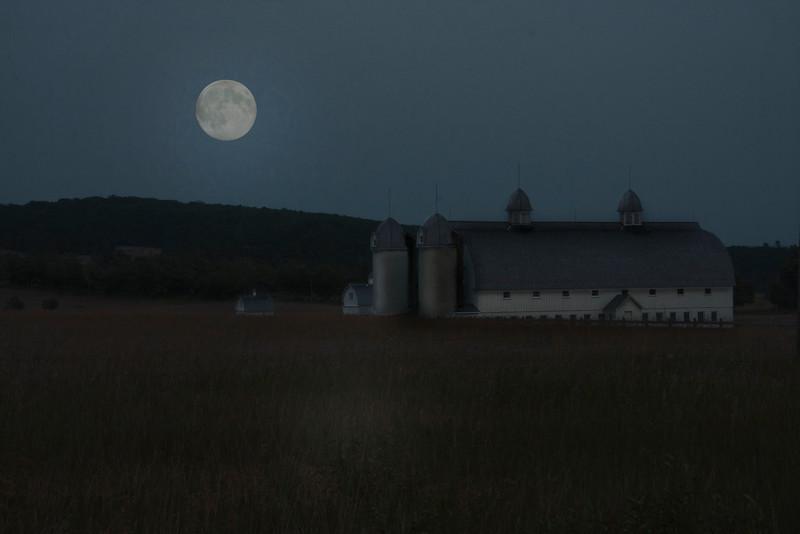 Super Moon Over DH Day Farm