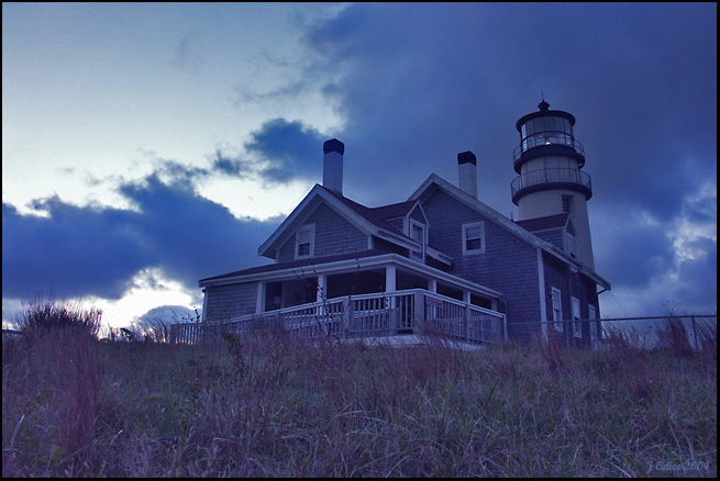 Blue Light Dawn <br /> Highland Lighthouse <br /> North Truro MA