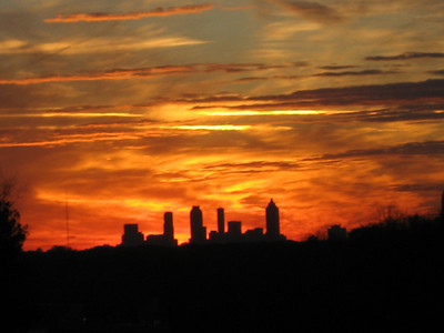 Sunset over Atlanta 12.6.07
