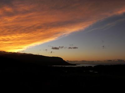 Sunset over Hanalei Bay