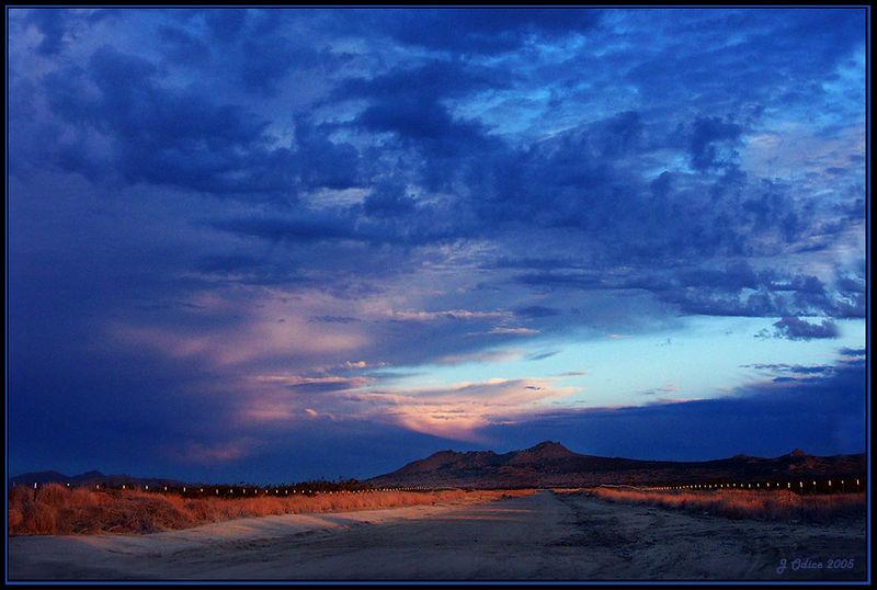 Mojave Decemeber Sunset #2<br /> Lake Los Angeles CA