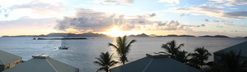 Sunset in St John Panoramic