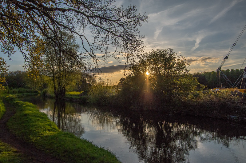 Sunset around Tixall