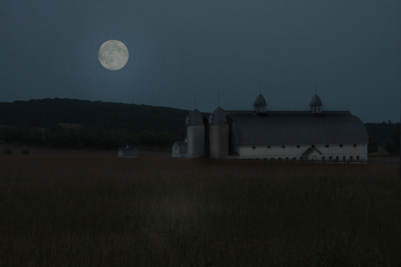 Super Moon Over DH Day Farm