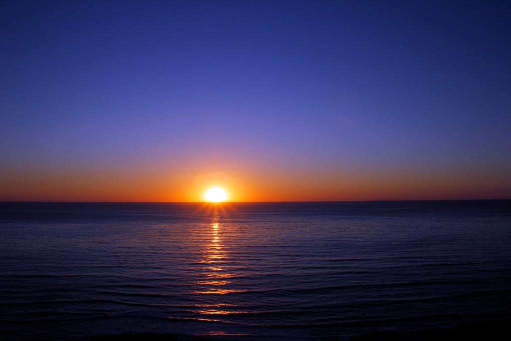 Blue Water Sunset