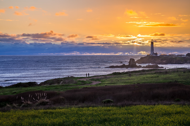 Beautiful Sunset at Pigeon Point