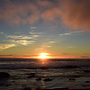 Sunset and low lying clouds at Crystal Cove State Park