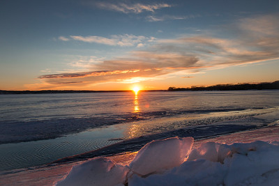 Icy Sunset over Lewis & Clark Lake