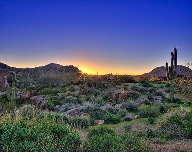 Sunrise in North Scottsdale, AZ