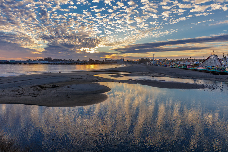 Boardwalk Beach Cloud Reflections