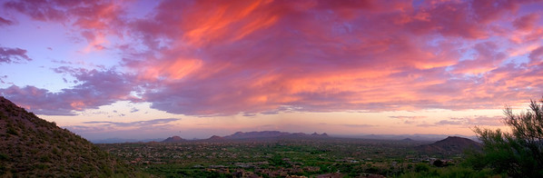 Looking south from the Desert Mountain community northeast of Carefree, AZ.