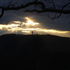 Sun leaking thru to shine on Bald Knob Cross.<br /> Picture name:  Cross Rays