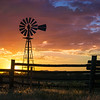 Sunset With Windmill in Northwest Colorado