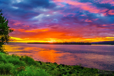 Columbia River Sunset, Oregon
