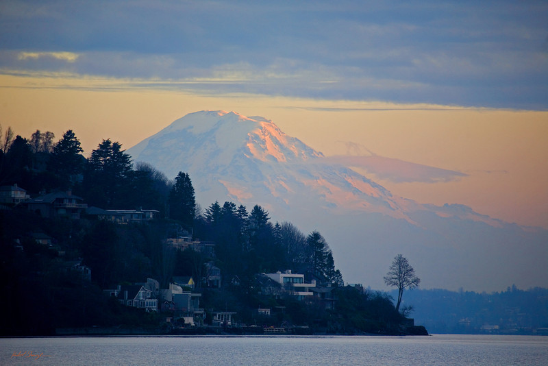 Mt. Rainier Pink Sunset