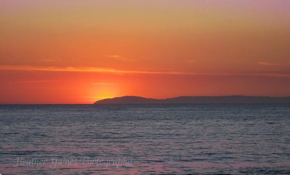 View from Laguna Beach, Ca - Catalina Island Print 2