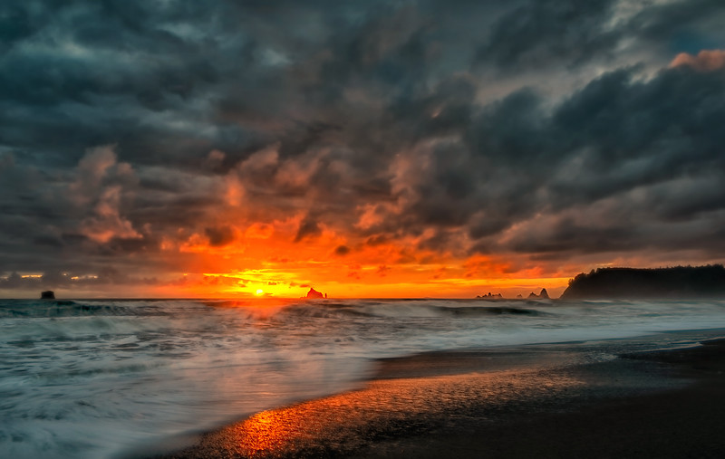 Stormy Sunset Seascape