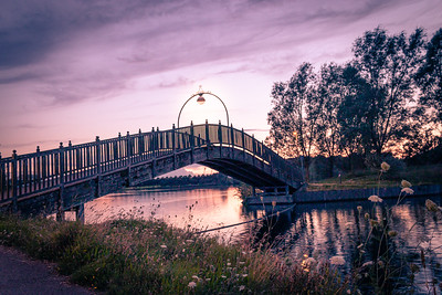Lakeside Bridge in Doncaster on a beautiful evening