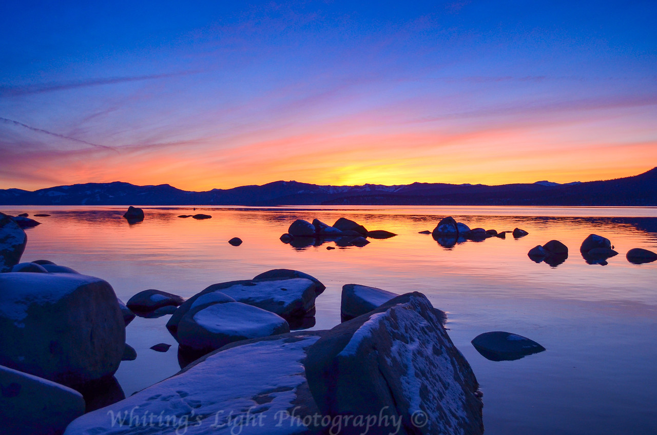 Tahoe Wnter Sunset