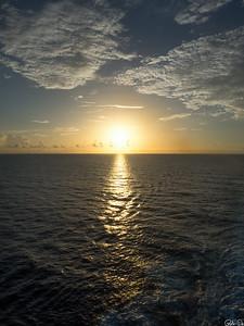 Sunset over beautiful skies