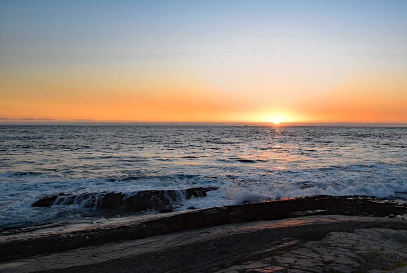 Clear sunset at Crystal Cove State Park