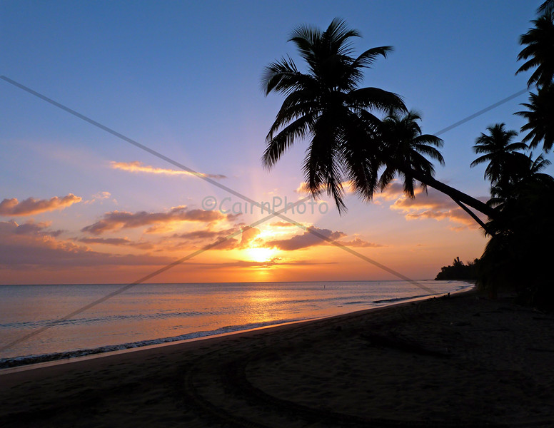 Glorious Caribbean sunset - Anasco Puerto Rico.