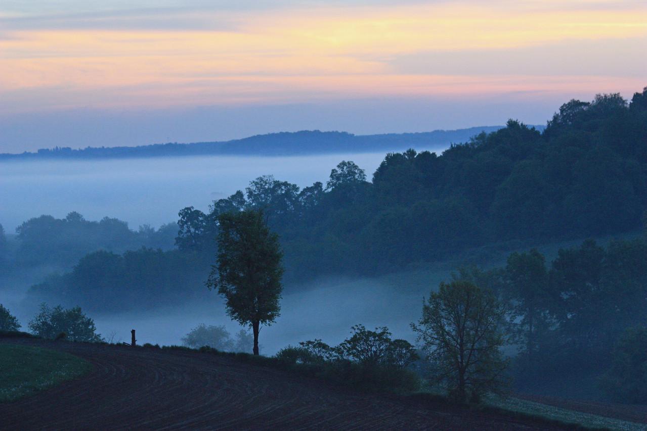Sunrise and Fog 5:23 AM