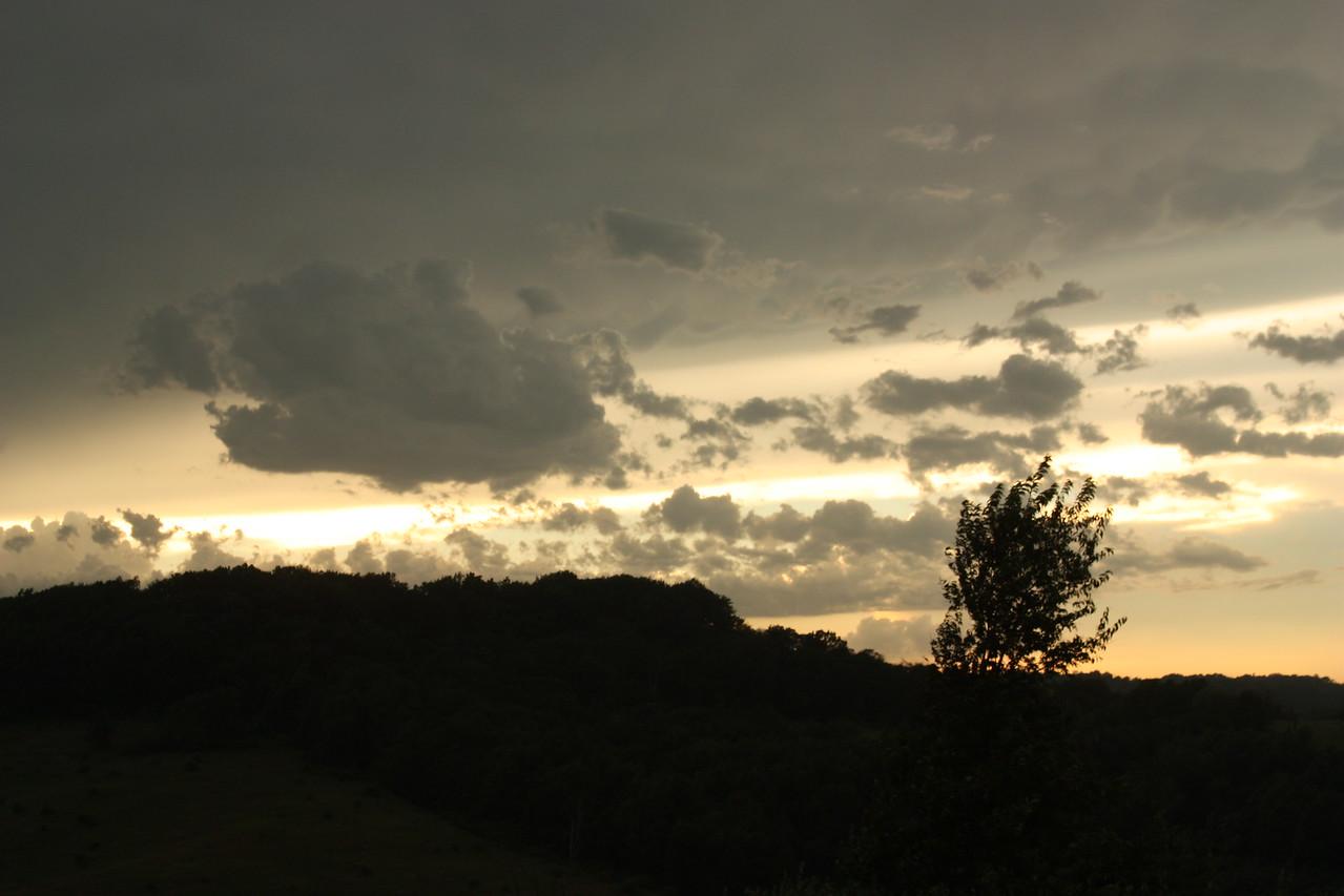 Gray sky at sundown