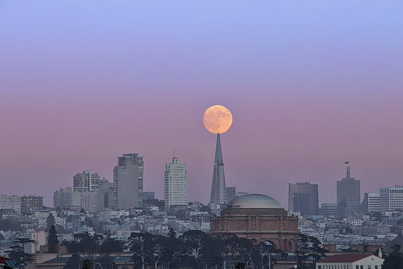 Harvest Moon over San Francisco