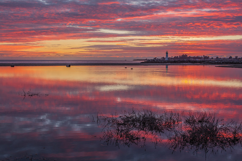 Twin Lakes Beach Sunset Reflections 9