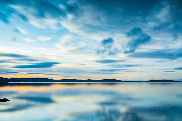 Winter Calm, Malaclate, North Uist