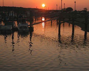 Dark Harbor Sunset