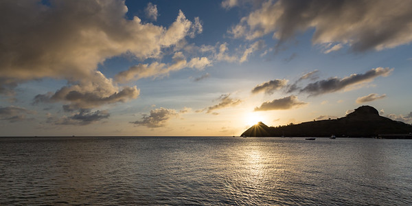 Pigeon Island Sunburst panorama