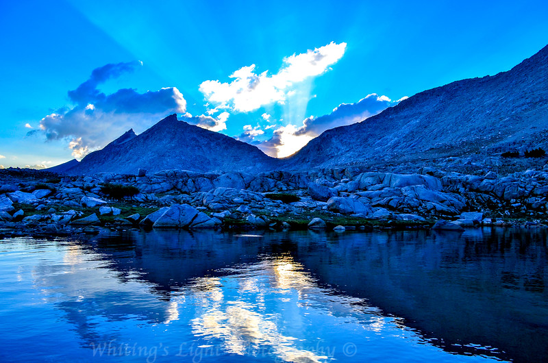 Mather Pass at Sunset with God Rays
