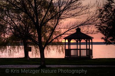 Sunset, New York finger lakes