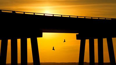 Simple Sunset Bridge