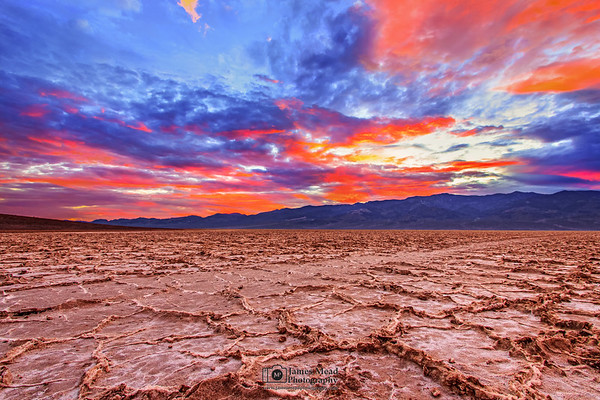 """""""Nature's Watercolor,"""" Badwater Basin Sunset, Death Valley National Park"""