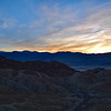 Sunset at Zabriskie Point in Death Valley National Park
