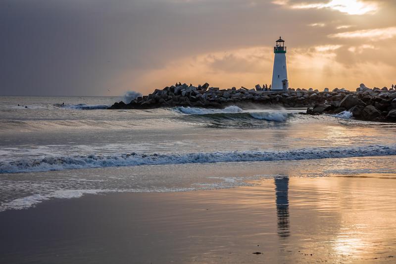Twin Lakes Beach Sunset Reflections 7