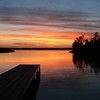 Sunset on Rend Lake in Southern Illinois near interstate 57