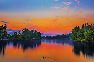 """River of Fire,"" Willamette River Sunset, Oregon"