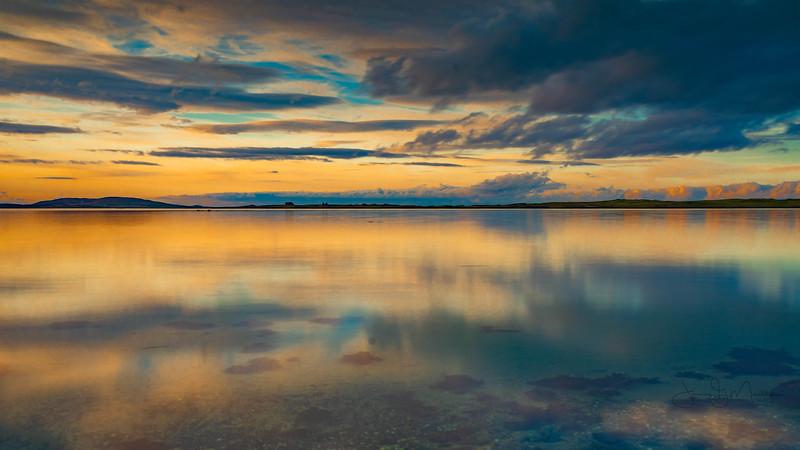 Clouds in calm