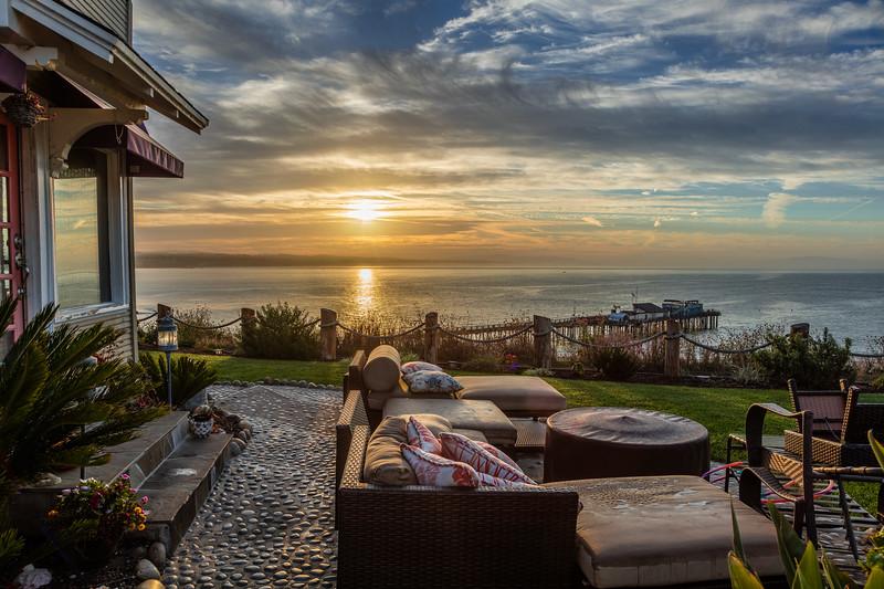 Capitola Ocean View House Sunrise