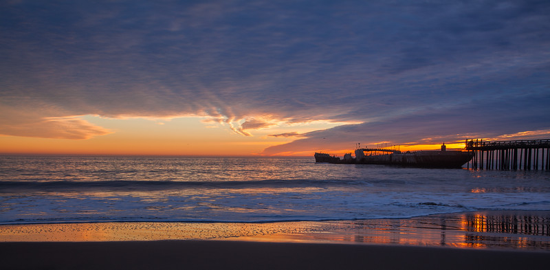 Seacliff Beach Sunset Panorama