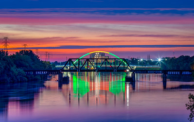 Red and Green on a Purple River